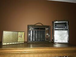 Lot Of Three Vintage-usa Made-transistor Radios. G.e.arvinemerson. 2 Of 3 Work