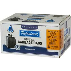 50 Pack 35 Inchs X 50 Inchs 3.0 Mil Black Oxo-biodegradable Garbage Bags