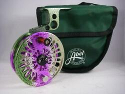 Abel Creek 2 La Fly Reel In Rainbow Trout Graphic W/abel Arm For 4 Or 5 Wt Rod