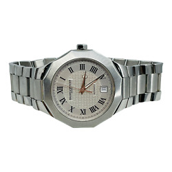 Baume And Mercier Riviera Stainless Silver Dial Swiss Automatic Mens Watch 65536