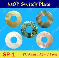 Green Abalone And Mop Toggle Switch Plate 5pcs Gsp1