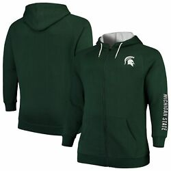 Michigan State Spartans Colosseum Big And Tall Comic Book Full-zip Hoodie - Green