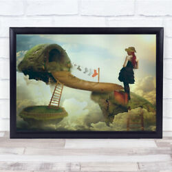 All Of Us Alice Socks Laundry Ladder Sky Woman Bag Suitcase Wall Art Print