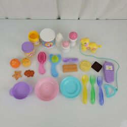 Fisher-price Little Mommy Baby Doll Nursery Accessories Food Bottle Brush Dishes