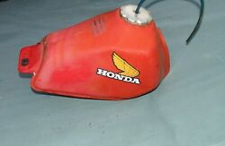 Old Honda Motorcycle Gas Fuel Tank Works Good With Cap Shut Off Valve Vintage