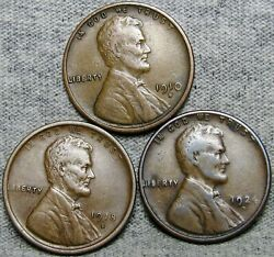 1910-s 1918-s 1924-d Lincoln Cent Wheat Penny Lot ---- Nice Lot---- R947