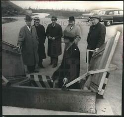 1961 Press Photo County Park Commission Inspecting A Nike Missile Site Cudahy