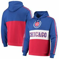 Chicago Cubs Mitchell And Ness Leading Scorer Fleece Pullover Hoodie - Royal/red