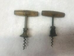 Lot Of 2 Vtg Anheuser Busch + Lemp Brewery Double Wing Beer Corkscrew Openers