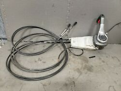 Oem Suzuki Marine Outboard Side Mount Control Binnacle With 14 Ft Cables