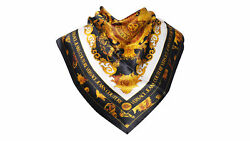 Versace Jeans Couture Black/gold 100 Silk Scarf