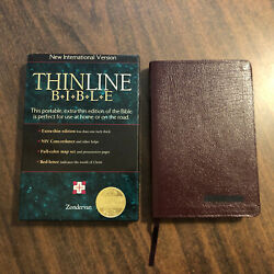 Niv 1984 Thinline Bible - Burgundy Bonded Leather - Out Of Print 84