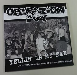Operation Ivy Yellin In My Ear Live Andrsquo88 Import Lp Green Day Rancid Nofx New Mint