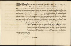 Dewitt Clinton - Military Appointment Signed 04/17/1819