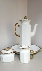 Mcmgeorges Briardbambous Dand039orcoffee Potserving Tray Sugarcreamewhite Gold