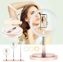 """12"""" Led Selfie Phone Ring Light, W/ Foldable Stand And Phone Holder, 3 Light Modes"""