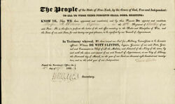 Dewitt Clinton - Military Appointment Signed 03/16/1822