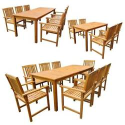 Outdoor Dining Set Garden Patio Table Chairs Kitchen Furniture Solid Acacia Wood