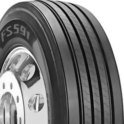 4 Tires Firestone Fs591 11r22.5 Load G 14 Ply Steer Commercial