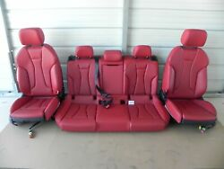 2019 Audi S3 Front And 2nd Right And Left Side Seat Red Leather Complete 502a40 Oem