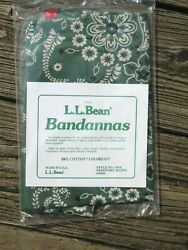 3 Pack Vintage Ll Bean Bandanas 100 Cotton Red And Green Face Covering Mask Usa