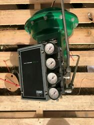 Fisher 1 Control Ball Valve V-150 W/ Actuator And Positioner