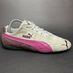 Puma Speed Cat Germany SD Womens Sneaker Shoes Hot Pink White 300449 11 Size 9.5
