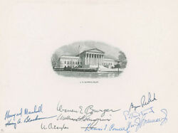 The Warren E. Burger Court - Engraving Signed With Co-signers