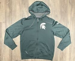 Michigan State Spartans Nike Therma Fit Full Zip Hooded Jacket Big Ten Football