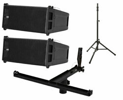 2x Rcf Hdl 6-a 1400w Line Array + Pole Mount Kit Holds 3x+ Lift Assist Stand
