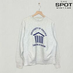 Vintage University Of Virginia Curry School Of Education Crewneck Size Large Gry