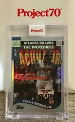 Topps Project 70 Ronald Acuna Jr. By Undefeated Rainbow Foil /70 Andldquoiron Manandrdquo 🔥