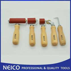 5pcs Single Ply Roofing Installing Tools Kit,seam Rollers With Seam Tester
