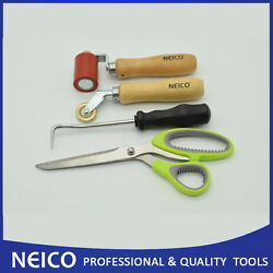 4pcs Roofing Membrane Installing Tools , Membrane Scissors ,seam Rollers And Probe