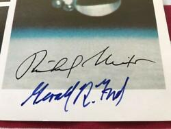 Richard Nixon And Gerald R Ford Authentic Signed Official Nasa Photo Apollo Soyuz