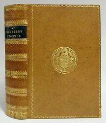 Antique 1882 The Ingoldsby Legends Occult Tales Fine Leather Prize Binding Book