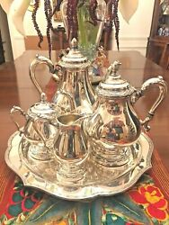 Vintage Remembrance 1847 Rogers Bros Is Silver Plated Tea And Coffee Service Set