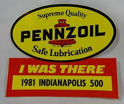 1981 Indianapolis 500 Pennzoil Event Sponsors I Was There Collector Decal Indy