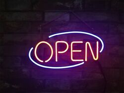 Open Neon Sign Porcelain Gift Game Room Decor Display Artwork Neon Sign Visual