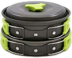 1 Liter Camping Cookware Mess Kit Backpacking Gear Hiking Outdoors Bug Out Bag $33.49