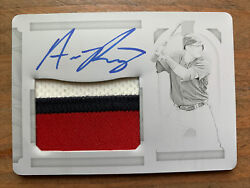 2019 National Treasures Austin Riley Rookie Patch Auto Printing Plate 1/1 Braves