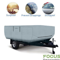 16-18 Ft Trailers Waterproof Rv Trailer Cover For Folding Pop Up Camper