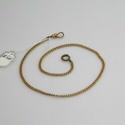 D610 Vintage 9k Yellow Gold Pocket Watch Chain