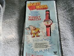 J899 Vintage 1985 Mighty Mouse Mechanical Analog Wrist Watch New/ Old Stock