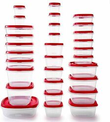 Rubbermaid Easy Find Vented Lids Food Storage Containers, Set Of 30 60 Pieces