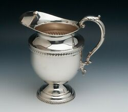 Poole Sterling Silver Water Pitcher Gadroon Border 4.55 Pints 9.75