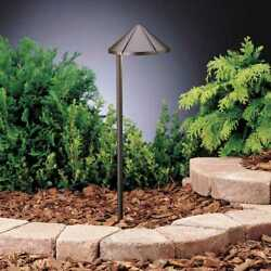 Kichler 15315azt6 12v Six Groove Side Mount Path In Textured Bronze 6-pack
