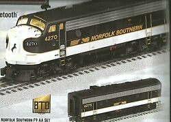 Lionel 6-2033280,6-2033288and6-2033289 Legacy Norfolkandsouthern F-9 Abba Diesel Set