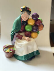 Signed Royal Doulton The Old Balloon Seller 1994 Signed Michael Doulton