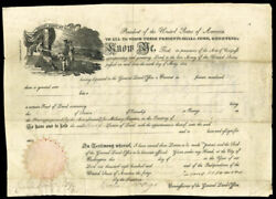 James Monroe - Land Grant Signed 02/09/1818 Co-signed By Josiah Meigs